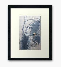 "Banksy - ""The Girl With a Pierced Eardrum"" Framed Print"