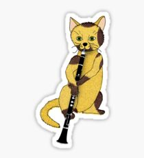 The Clarinetist Is a Cat Sticker