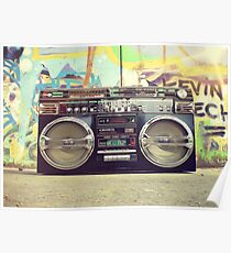 80s Boom Box Trendy Style! Poster