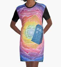 Kaleidoscope TARDIS Graphic T-Shirt Dress