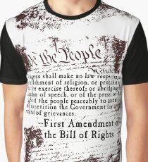 ERSTER Zusatzartikel US-Verfassung Grafik T-Shirt