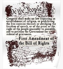 FIRST Amendment US Constitution   Poster