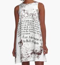 FIRST Amendment US Constitution   A-Line Dress