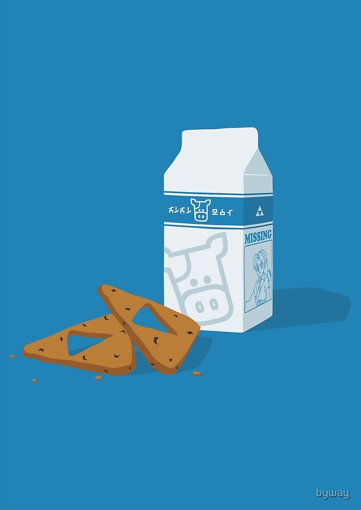 Milk & Triforce Cookies by byway