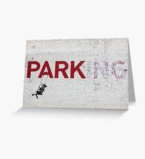 "Banksy - ""Parking"" Greeting Card"