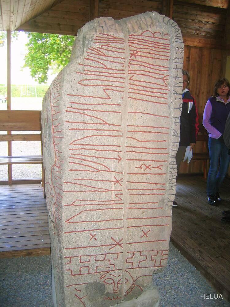 Eighth Century Runic Stone by HELUA
