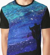 Optimus Against Starry Sky Graphic T-Shirt