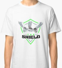The Shield Green Logo with black letters Classic T-Shirt