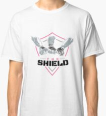 The Shield Pink Logo with black letters Classic T-Shirt