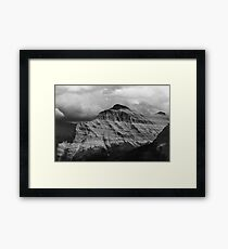 Black and White Mountain Framed Print