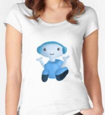 A Little Robot Friend Women's Fitted Scoop T-Shirt