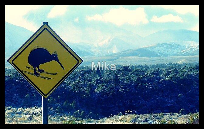 Kiwis dont fly, they ski! by Mika