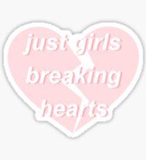 just girls breaking hearts Sticker