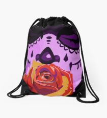 Day of the Dead Sugar Skull  Drawstring Bag