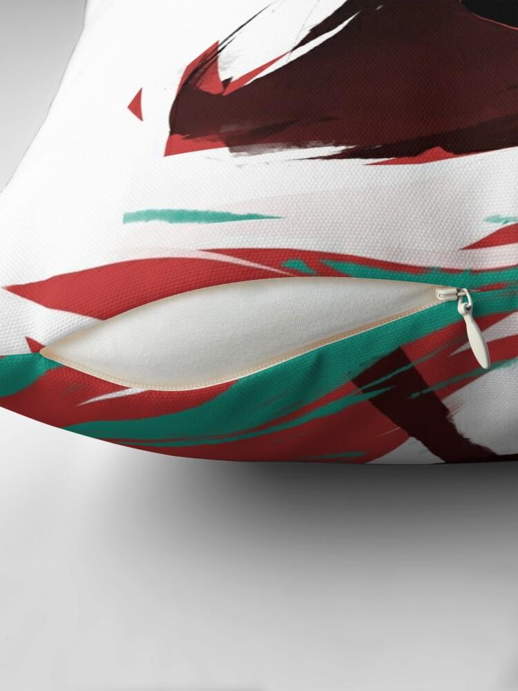 Alternative Ansicht von BNHA MHA - Tokoyami (weiße Version) Dekokissen