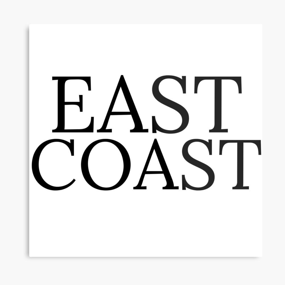 Ostküste Metallbild
