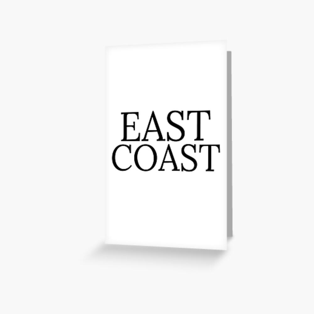 Ostküste Grußkarte