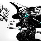 INKTOBER: WICKED WITCH by Chris Jaser