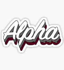 Retro Alpha Sticker