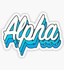 Retro Alpha Sticker