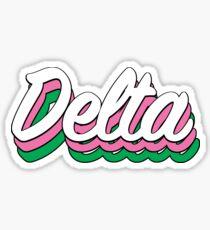 Retro Delta Sticker