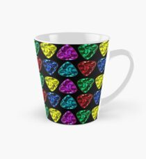 Guitar Picks in Red, Blue, Yellow, Pink and Aqua (Teal) Tall Mug