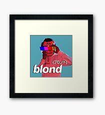 Frank Ocean Blond Helmet Logo Framed Print