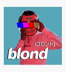 Frank Ocean Blond Helmet Logo Photographic Print