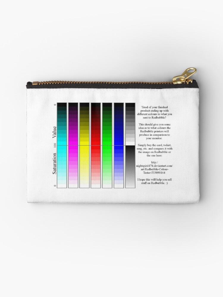 Bolsos de mano «Prueba de color de la impresora Redbubble» de ...
