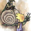 Jeffery Meets The Hermit Snail Rider by Steven Novak