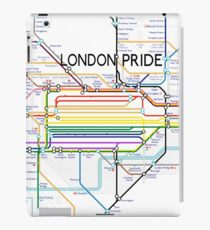 London Pride Tube Map (with text) iPad Case/Skin