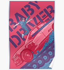 Baby-Fahrer-alternatives Film-Plakat Poster