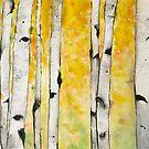 Watercolor Aspen by Jeri Stunkard