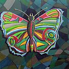 226 - STYLISED BUTTERFLY - DAVE EDWARDS - ACRYLICS - 2008 by BLYTHART