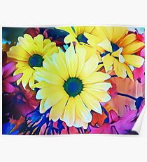 Cheerful & Bright Daisy Flower Poster