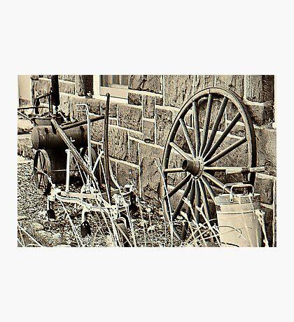 Old Farm Tools in Paramus Photographic Print