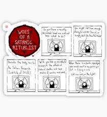 Woes Of A Satanic Ritualist: DONATE Sticker
