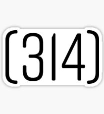 314 Area Code Sticker