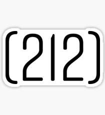 212 Area Code Sticker