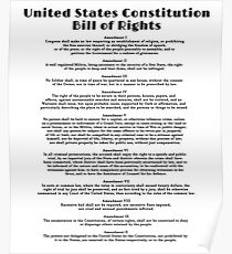 Bill of Rights, US Constitution Poster