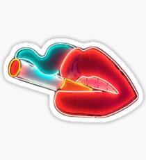 Smoking Lips Sticker