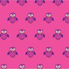 Purple & Purple Owl (Pattern 2) by Adam Santana