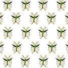 Parrot  Green (Pattern) by Adam Santana