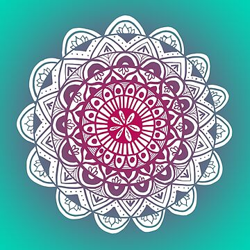 Jade and Purple Mandala by julieerindesign