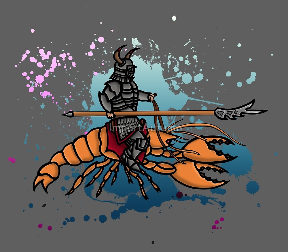 Knight on a Lobster by ImportAutumn