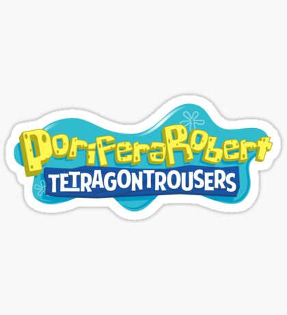 PoriferaRobert TetragonTrousers Sticker