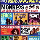Freak Out USA magazine Cover Fall 1967, Monkeys, Supremes, Paul Revere, Mamas & The Papas... by coralZ