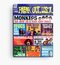 Freak Out USA magazine Cover Fall 1967, Monkeys, Supremes, Paul Revere, Mamas & The Papas... Metal Print