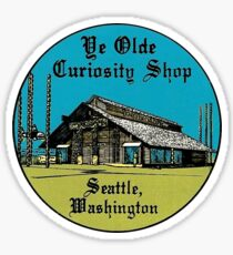 Ye Olde Curiosity Shop Seattle Washington Vintage Travel Decal Sticker