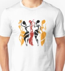 African dancers silhouette Unisex T-Shirt